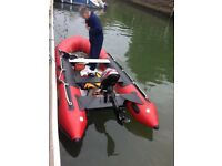 Inflatable boat Exel 3.7meter + Mariner 6hp four stroke engine