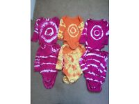6 home tie dyed vests 9-12m