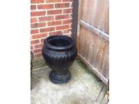Black garden pot