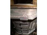 Shabby chic ornate cupboard with drawers