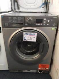 EX-DISPLAY HOTPOINT 8 KG 1400 SPIN A++ GRAPHITE WASHING MACHINE REF: 31536