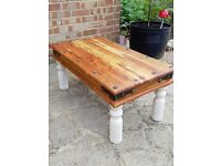 Rustic Coffee Table, Shabby Chic style