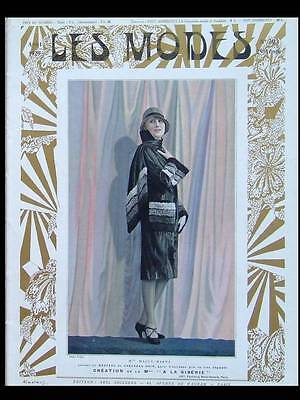 LES MODES 1929 - FRENCH FASHION MAGAZINE - CHANEL, DRECOLL, PREMET, PAQUIN