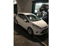 FULL BLACK LEATHER white ford fiesta zetec s 1.6 street pack