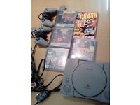 PlayStation 1 and Crash Bandicoot Collection - All games and console working! fantastic condition!