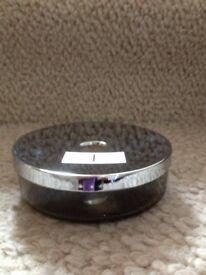 Jasper Conran Glass Based Soap Dish with Chrome Top