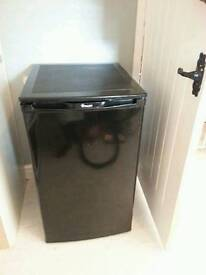 under counter black fridge