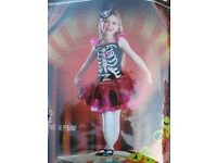 girls day of the dead fancy dress outfit age7/8 great for party or play