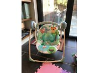 Bright Starts Baby Portable Swing Rocker