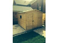 8ft x 8ft T&G Garden Shed