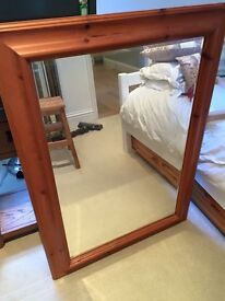 Large pine Mirror. Fantastic condition.