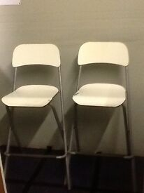2 bar stools - White sold as used