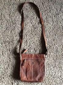 Rowallan brown hand made fine leather handbag