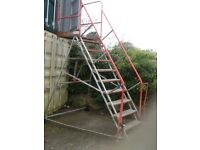 mobile stairs,with castor wheels ,and tow hitch
