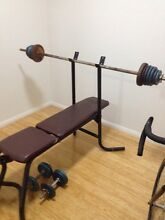 Weight bench, Dumbbells and 100kg in weights Epping Ryde Area Preview
