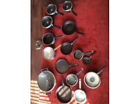 Selection of saucepans