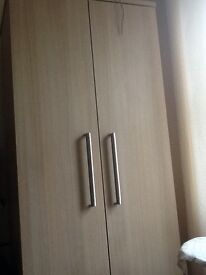 For sale double wardrobe maple colour very modern