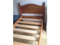 Single, pine bed (3 foot wide ) with mattress