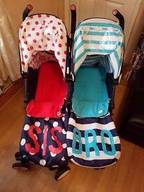 Cosatto bro and sis double pram/pushchair