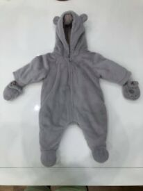 Mamas & Papas Fur All-In-One Winter suit