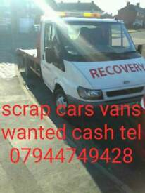 We buy all scrap car's van's running or not