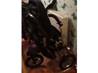 Jane Power Twin buggy, navy.