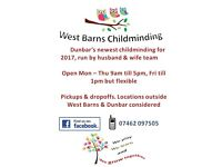 West Barns Childminding, newly set up and ready to go