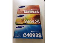 Samsung Cyan - CLT-C4092S/ Magenta - CLT-M4092S/ Yellow - CLT-Y4 092S Toner Cartridges