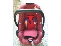 Red maxi cosi pebble car seat