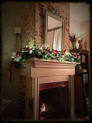 Custom Christmas Garland Winter Decoration Tree Door Mantel Display w/Lights (Halloween Mantel Displays)