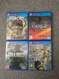 Ps4 games, call of duty, far cry, project cars NO FIFA