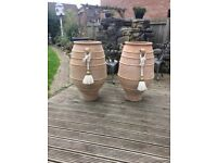 2 terracotta pots 3ft high