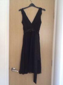 Black chiffon cocktail dress, Oasis, size 8, never worn