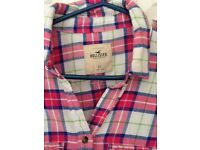 Hollister check shirt size xs