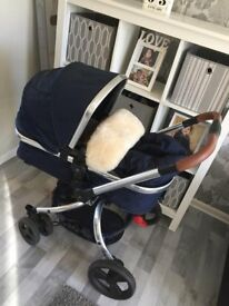 navy mothercare orb pushchair