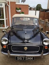Morris minor convertible with automatic gear box