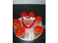 Valentine cakes and cupcakes book early to avoid disappointment.A large selection for all occasions.