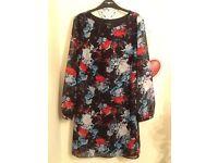 Primark Atmosphere Long Sleeve floral Sheer dress