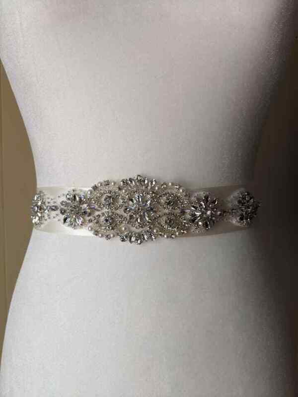 bridal belt, wedding dress sash, crystal sash, crystal belt, dress belt