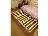 Girls single bed with pull out bed underneath great condition