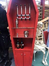 Coffin bar / drinks cabinet