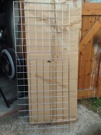 3 x Gridwall racking/shelving. 610mm x1530mm (2ft x 5ft) & Box of hangers. NIB