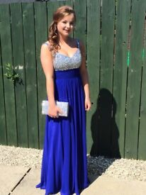 Royal blue prom dress size 6-8