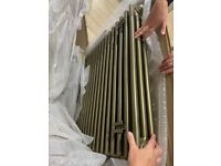 Stelrad brushed gold 3 column radiator