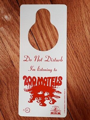 Frank Zappa 200 Motels Mothers Invention Plastic Promo Do Not Disturb Door Hang