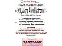 Maths Exam Crash Courses - GCSE, AS and A Level revision days - Easter