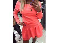 Neon set - Blouse + skirt
