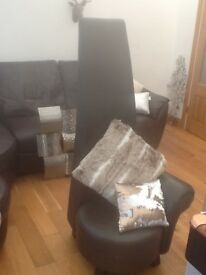 Brown fake leather chair