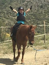 family riding in southern spain February 24-28th
