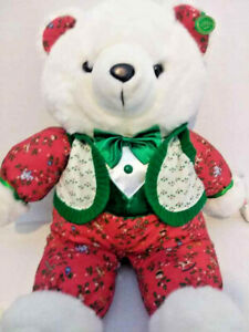 7e61a4dc3e3 1991 Kmart CHRISTMAS TEDDY BEAR White Boy Ear And PRICE TAG 22